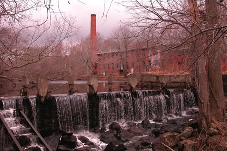 The Mill at Shady Lea's Waterfall